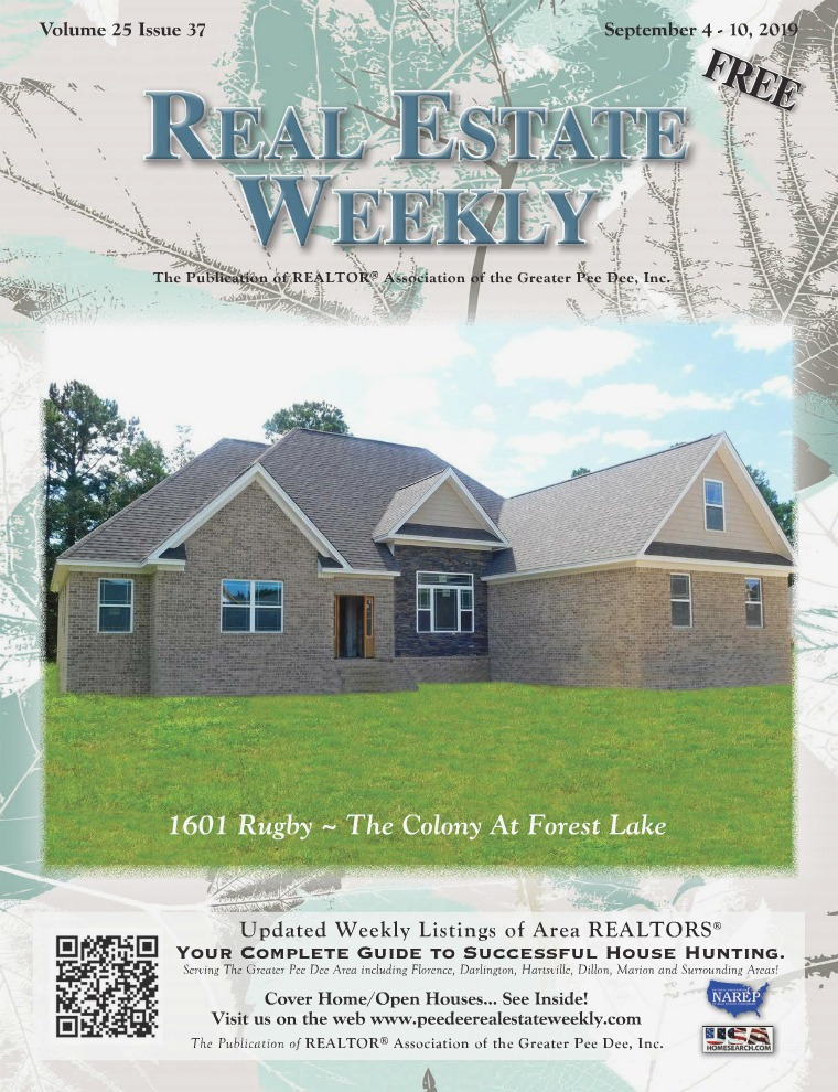 Real Estate Weekly Volume 26 Vol. 25, Iss. 37