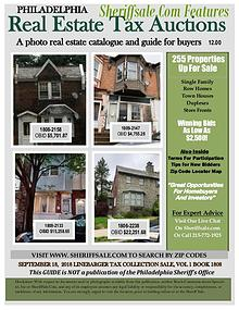 September 18 Philadelphia Tax Auction Color Photo Guide