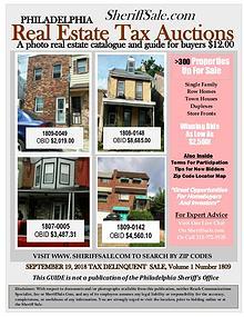 September 19 Philadelphia Tax Auction Color Photo Guide