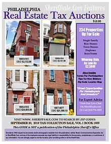 September 20 Philadelphia Tax Auction Color Photo Guide
