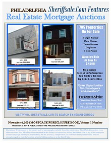 November 4, 2014 Mortgage Auction