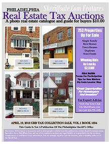 Guide To Buying April Tax Sale Properties Philadelphia