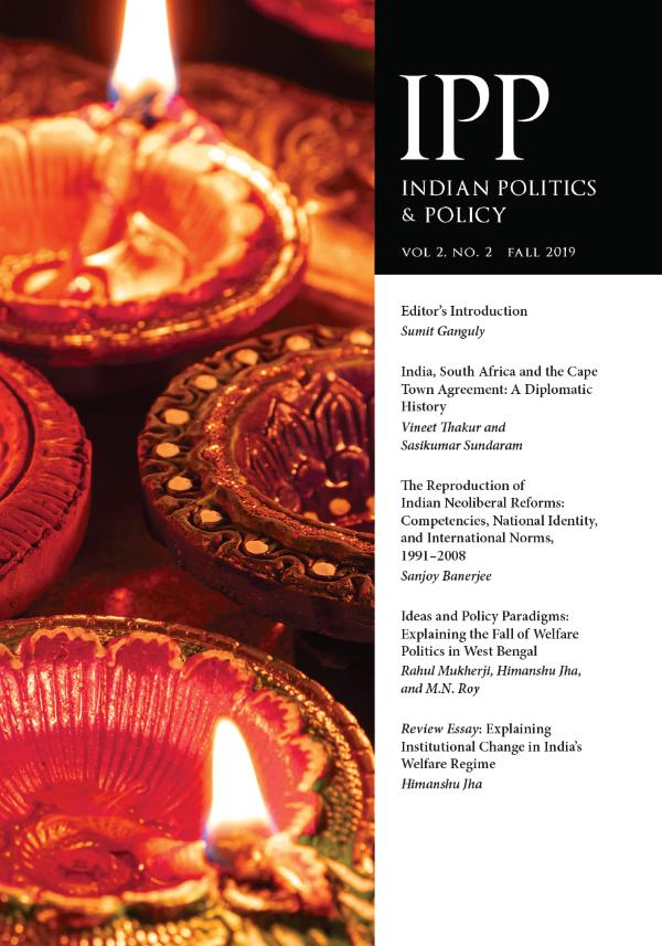 Indian Politics & Policy Volume 2, Number 2, Fall 2019