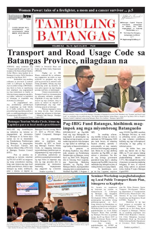 Tambuling Batangas Publication April 03-09, 2019 Issue