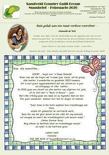 Sandveld Country Quilt Grp - Newsletter Feb 2020