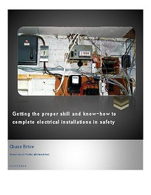 Getting the proper skill and know-how to complete installations in safety