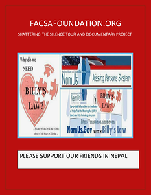 FACSAFOUNDATION.ORG SHATTERING THE SILENCE TOUR & DOCUMENTARY PROJECT