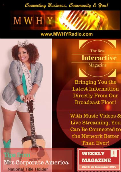 MWHY Radio Magazine Live Nov 23rd 2014