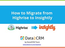 Highrise to Insightly Data Migration: Deal with It Easily