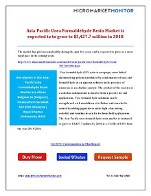 Asia-Pacific Urea Formaldehyde Resin Market is Expected to to grow to