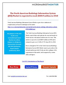The North American Radiology Information System (RIS) Market is expec