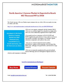North America 1-hexene Market is Expected to Reach 482 Thousand MT in