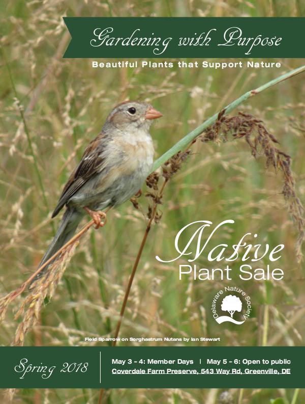 Native Plant Sale Catalogue - Delaware Nature Society Native Plant Sale Catalog 2018