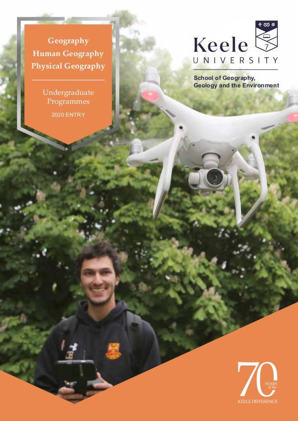 Geography Undergraduate Programmes for 2020 Entry - Keele University 2020 Entry