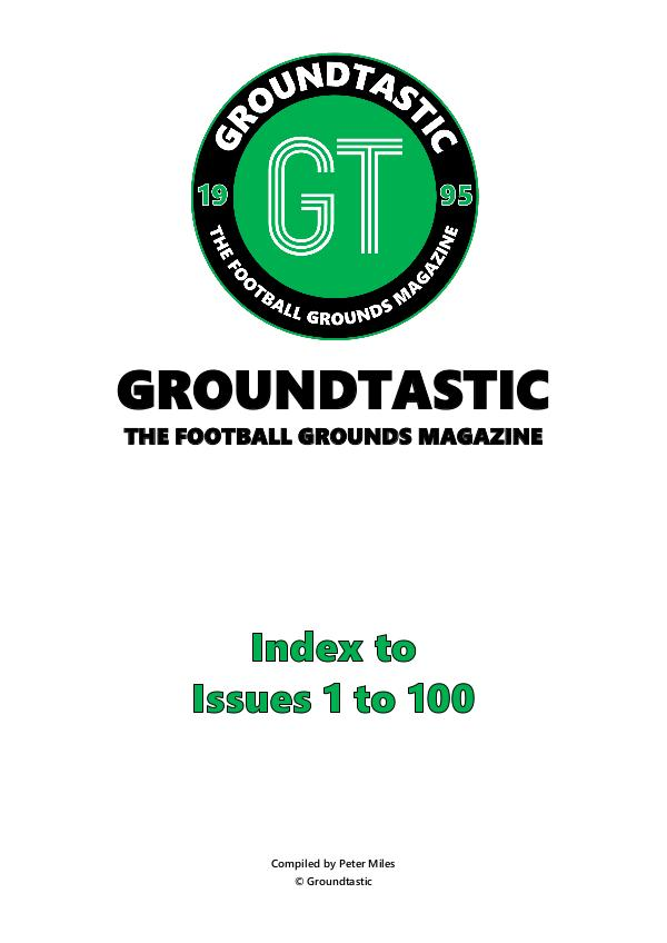 Groundtastic GT Index - 1 to 100