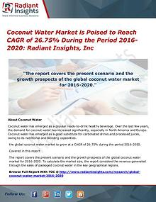 Coconut Water Market is Poised to Reach CAGR of 26.75%