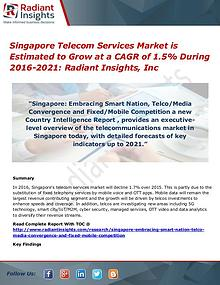 Singapore Telecom Services Market is Estimated to Grow