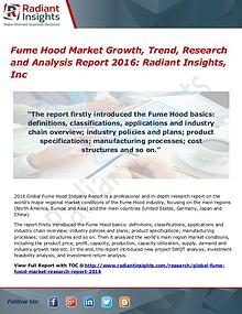 Fume Hood Market Growth, Trend, Research and Analysis Report 2016