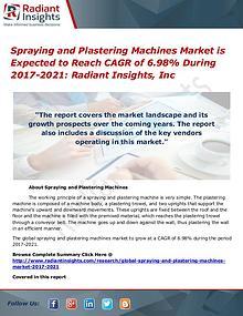 Spraying and Plastering Machines Market