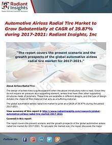 Automotive Airless Radial Tire Market to Grow Substantially
