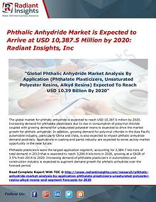 Phthalic Anhydride Market is Expected to Arrive at USD 10,387.5