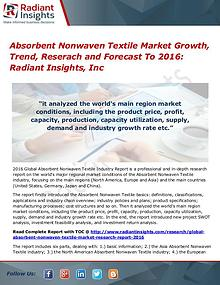 Absorbent Nonwaven Textile Market Growth, Trend, Reserach 2016