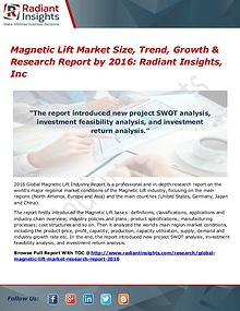 Magnetic Lift Market Size, Trend, Growth & Research Report by 2016