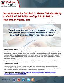 Optoelectronics Market to Grow Substantially at CAGR of 16.84% During