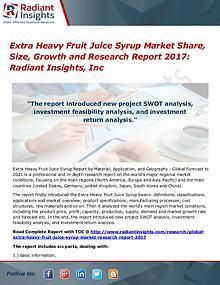 Extra Heavy Fruit Juice Syrup Market Share, Size, Growth 2017