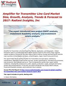 Amplifier for Transmitter Line Card Market Size, Growth, Analysis