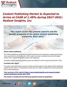 Content Publishing Market is Expected to Arrive at CAGR of 1.45%