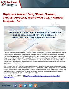 Diplexers Market Size, Share, Growth, Trends, Forecast 2021