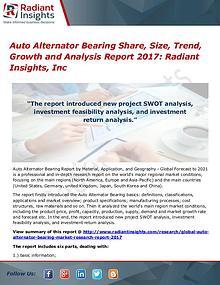 Auto Alternator Bearing Share, Size, Trend, Growth 2017