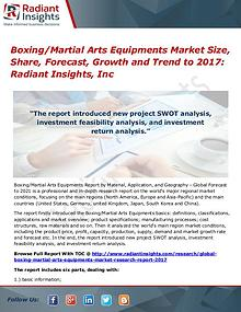 Boxing Martial Arts Equipments Market Size, Share, Forecast 2017