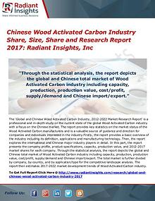 Chinese Wood Activated Carbon Industry Share, Size, Share 2017