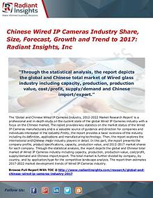 Chinese Wired IP Cameras Industry Share, Size, Forecast, Growth 2017