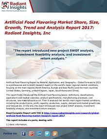 Artificial Food Flavoring Market Share, Size, Growth, Trend 2017