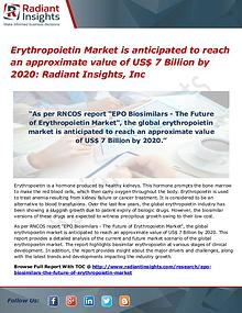 Erythropoietin Market is anticipated to reach
