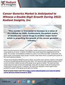 Cancer Generics Market 2022