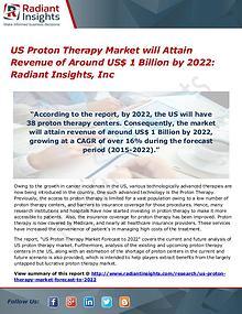 US Proton Therapy Market will Attain Revenue of Around US$ 1 Billion