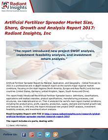 Artificial Fertilizer Spreader Market Size, Share, Growth 2017