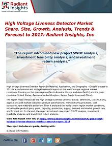 High Voltage Liveness Detector Market Share, Size, Growth, 2017