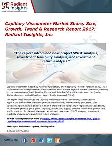 Capillary Viscometer Market Share, Size, Growth, Trend 2017