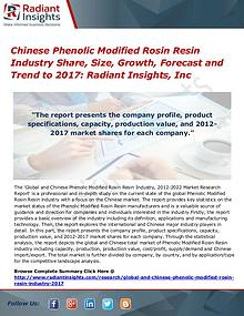 Chinese Phenolic Modified Rosin Resin Industry Share, Size 2017