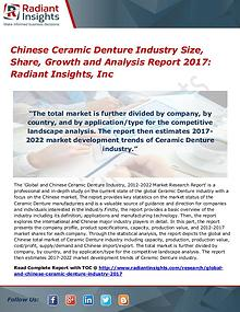 Chinese Ceramic Denture Industry Size, Share, Growth 2017
