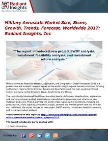 Military Aerostats Market Size, Share, Growth, Trends, Forecast 2017