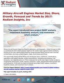 Military Aircraft Engines Market Size, Share, Growth, Forecast 2017