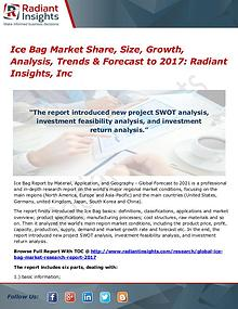 Ice Bag Market Share, Size, Growth, Analysis, Trends & Forecast 2017