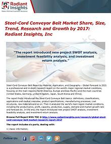 Steel-Cord Conveyor Belt Market Share, Size, Trend, Research 2017