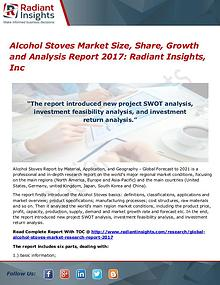 Alcohol Stoves Market Size, Share, Growth and Analysis Report 2017